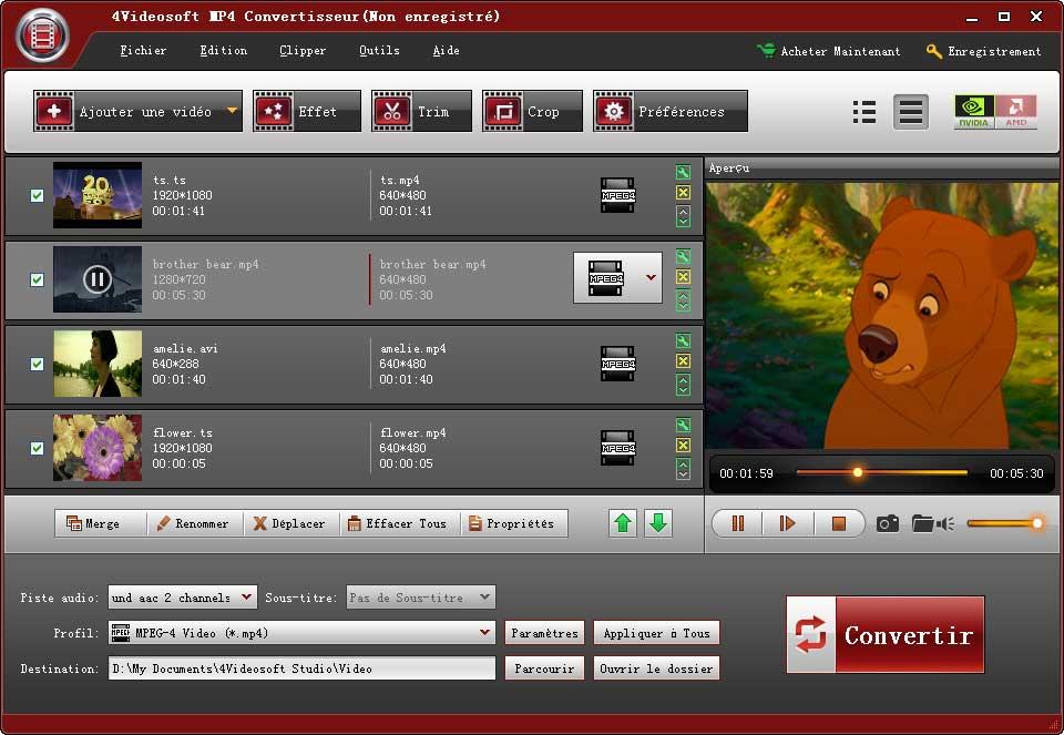 Convertir les fichiers MPG en fichiers MP4 en ligne et